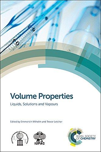 9781849738996: Volume Properties: Liquids, Solutions and Vapours
