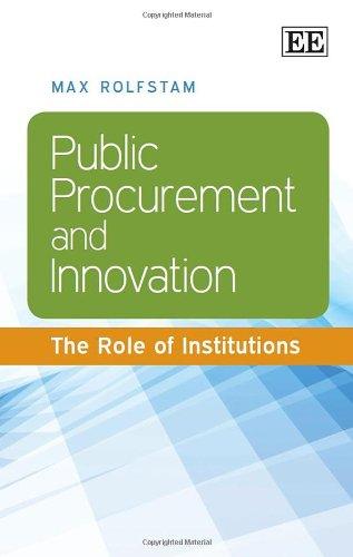 Public Procurement and Innovation: Rolfstam, Max