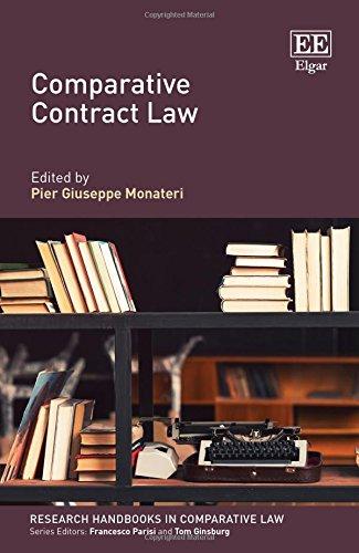 Comparative Contract Law (Research Handbooks in Comparative Law series): Pier Giuseppe Monateri