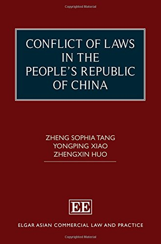 9781849808583: Conflict of Laws in the People's Republic of China (Elgar Asian Commercial Law and Practice Series)
