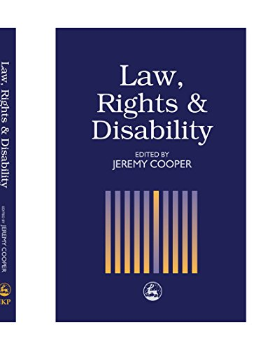 Law, Rights and Disability (1849850704) by Jeremy Cooper