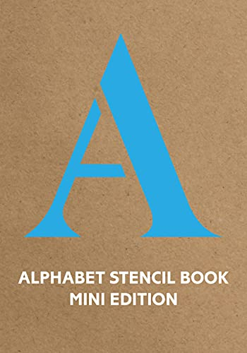 9781849942867: Alphabet Stencil Book (Blue) (Stencil Books)