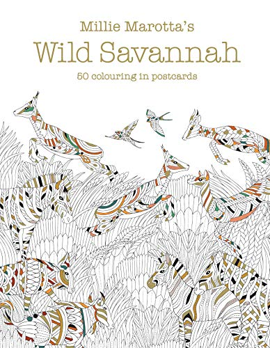 9781849943796: Millie Marotta's Wild Savannah Postcard Box: 50 beautiful cards for colouring in (Colouring Books)