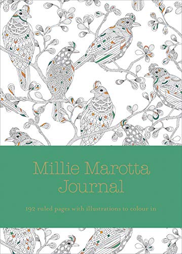 9781849943802: Millie Marotta Journal: ruled pages with full page illustrations from Wild Savannah (Colouring Books)