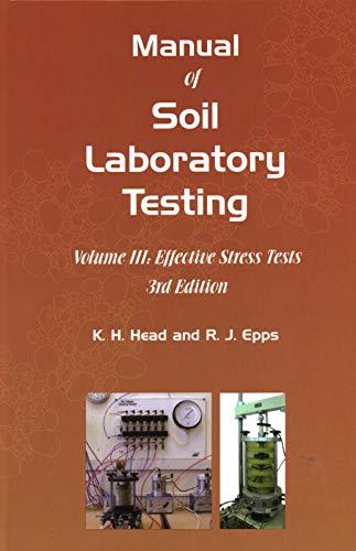 9781849950541: Manual of Soil Laboratory Testing: Effective Stress Tests III