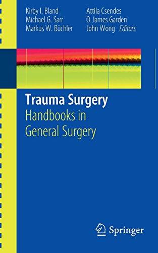 9781849963749: Trauma Surgery: Handbooks in General Surgery