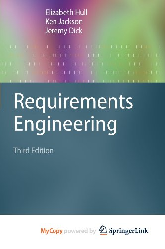 9781849964067: Requirements Engineering