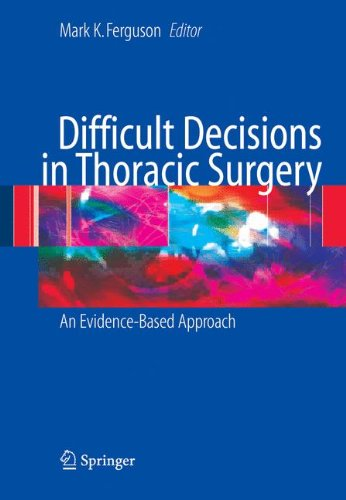 9781849965934: Difficult Decisions in Thoracic Surgery: An Evidence-Based Approach