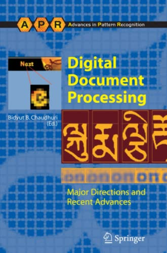 9781849966146: Digital Document Processing: Major Directions and Recent Advances (Advances in Computer Vision and Pattern Recognition)