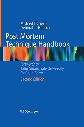 9781849969277: Post Mortem Technique Handbook