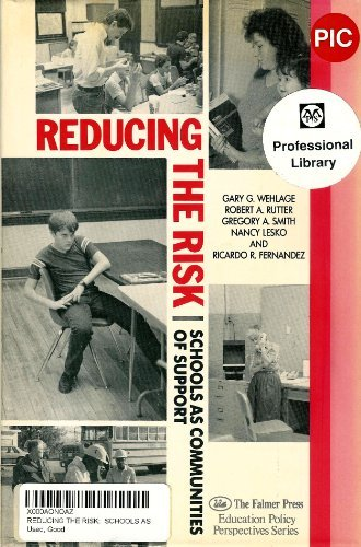 9781850005308: Reducing the Risk: Schools as Communities of Support (Education Policy Perspectives)