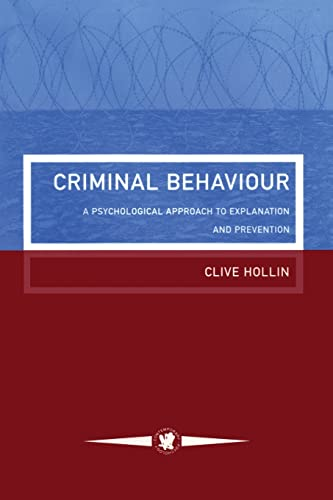 9781850009559 criminal behaviour a psychological approach to explanation and prevention contemporary psychology