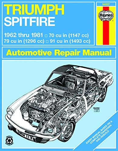 9781850100225: Triumph Spitfire, 1962-1981 (Haynes Manuals)