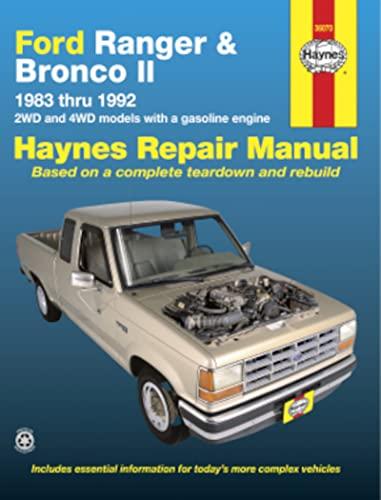 9781850100263: Ford Ranger and Bronco II, 1983 thru 1986, Owner's Workshop Manual