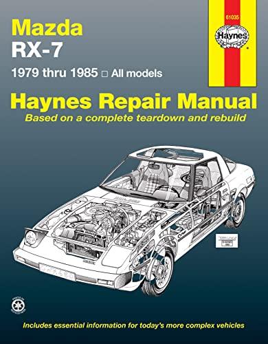 Mazda RX-7 Rotary 1979 thru 1985 All: Haynes