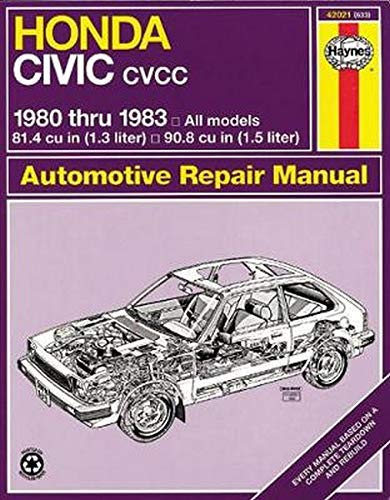 9781850100744: Honda Civic CVCC: 1980 thru 1983: All Models 1.3 & 1.5 liter (Automotive Repair Manual)