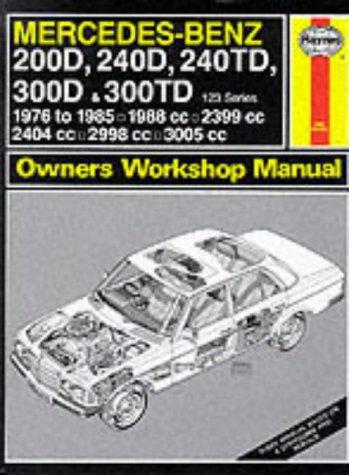 Mercedes-Benz 200D, 240D, 240TD, 300D and 300TD (123 Series) 1976-85 Owner's Workshop Manual (Service & repair manuals) (9781850101147) by J. H. Haynes; Larry Warren