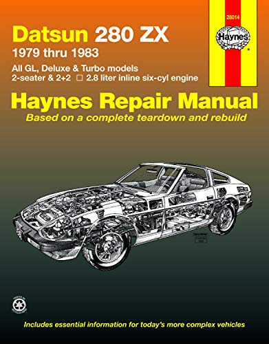9781850101246: Haynes Datsun 280ZX, 1979-1983 (Haynes Manuals): Automotive Repair Manual: All GL, Deluxe & Turbo models 2-seater & 2+2, 2.8 liter in line six-cyl engine