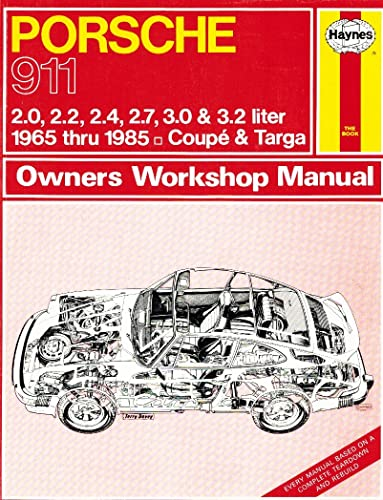 Hayn-Porsche 911 65-85 Owners Manual: Haynes Publishing
