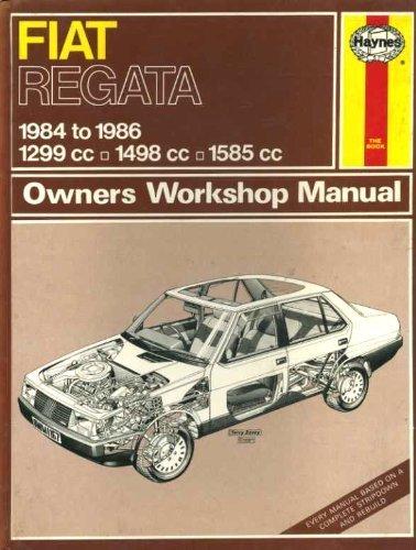 Haynes Owners Workshop Manual Fiat Regata: Peter G Strasman