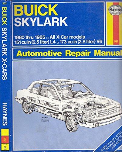 9781850101802 buick skylark 1980 85 all x car models owner s rh abebooks com 1970 buick skylark repair manual 1971 buick skylark repair manual