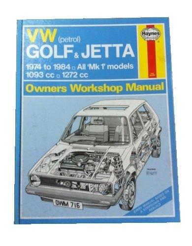 9781850102045: Volkswagen (Petrol) Golf and Jetta 1974-84, All Mk.I Models 1093c.c, 1272c.c. Owner's Workshop Manual (Owners workshop manuals)