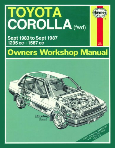 toyota corolla owner s manual abebooks rh abebooks com Toyota GTS Coupe Toyota Corolla