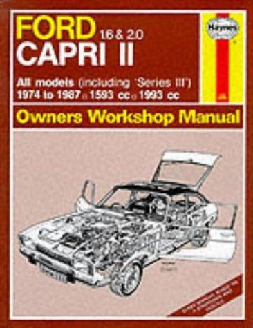 Ford Capri II All Models 1974-87 Owner's Workshop Manual (Service & repair manuals): ...