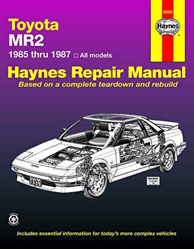 9781850103394: Toyota MR2 '85'87 (Haynes Repair Manuals)