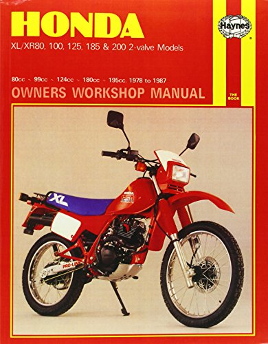 9781850103479: Honda XL/XR80, 100, 125, 185 and 200 2 Valve Models, 1978-87 Owner's Workshop Manual (Motorcycle Manuals)