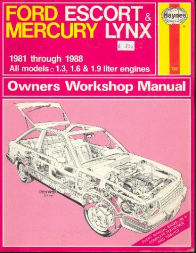 9781850104827: Ford Escort and Mercury Lynx 1981-88 Owner's Workshop Manual