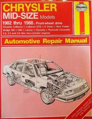 9781850105343: Chrysler Mid-size Sedans 1982-88 Owner's Workshop Manual