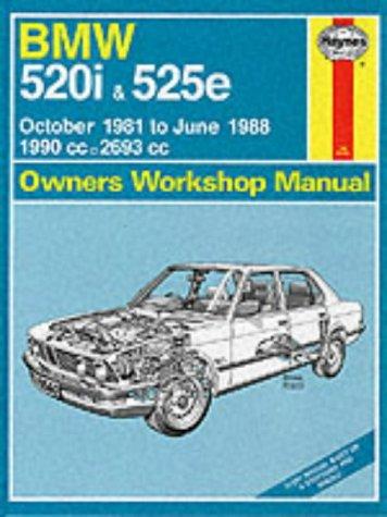 9781850105602: B. M. W. 520i and 525e 1981-88 Owner's Workshop Manual (Service & repair manuals)