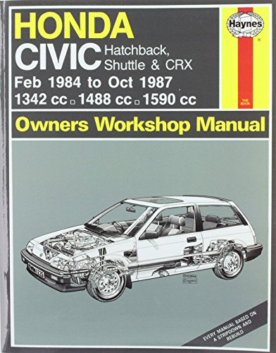 Honda Civic Hatchback, Shuttle and CRX 1984-87: Mead, John S.