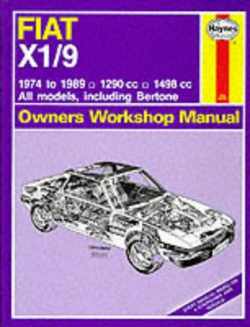 9781850106340: Fiat X1/9 1974-89 Owner's Workshop Manual (Service & repair manuals)