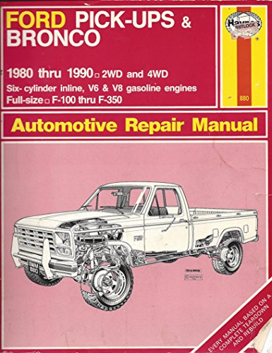 9781850106562: Ford Pick-ups and Bronco 2 and 4 W.D. 1980-90 Owner's Workshop Manual (Automotive repair manual)