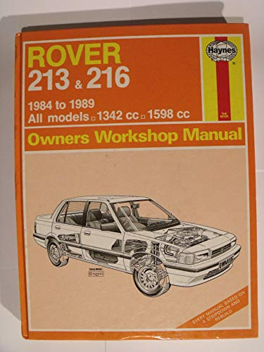 9781850106791: Rover 213 and 216 1984-89 Owner's Workshop Manual (Service & repair manuals)