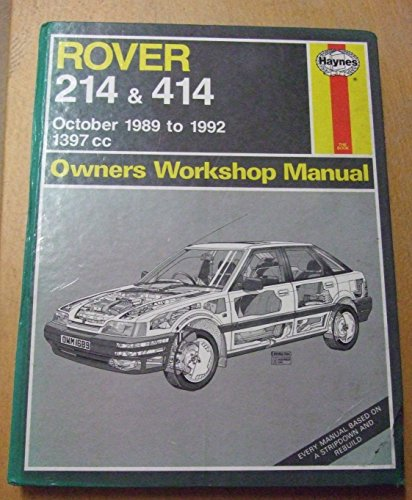 rover 214 and 414 owners workshop manual service repair manuals rh abebooks com Rover 214 1991 rover 214 and 414 service and repair manual