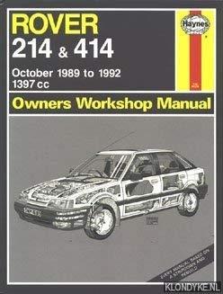 rover 214 and 414 owners workshop manual service repair manuals rh abebooks com Rover 214 Keys Car manual motor rover 214 si