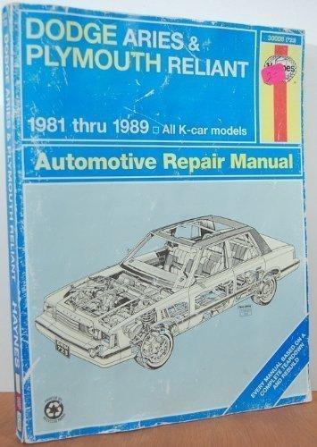 sainchargny.com Dodge Aries Plymouth Reliant 1981-1989 Haynes ...