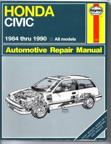 9781850107224: Honda Civic Automotive Repair Manual, 1984-1990
