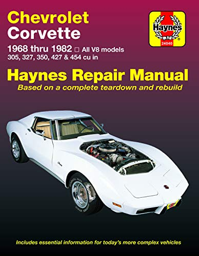 Chevrolet Corvette 1968-82 Automotive Repair Manual: Haynes, J. H.; Ahlstrand, Alan
