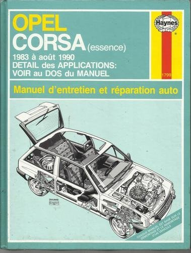 9781850107996: Opel Corsa Essence (French service & repair manuals) (French Edition)