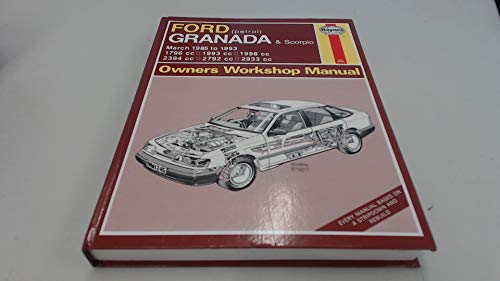 9781850109020: Ford Granada and Scorpio ('85 to '93) Owners Workshop Manual