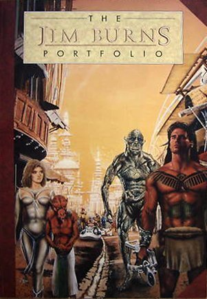 9781850281399: The Jim Burns Portfolio (The portfolio collection)
