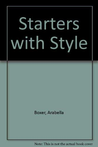 Starters with Style (The Conran cookbooks) (1850290709) by Arabella Boxer