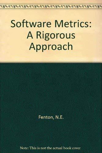9781850322429: Software Metrics: A Rigorous Approach