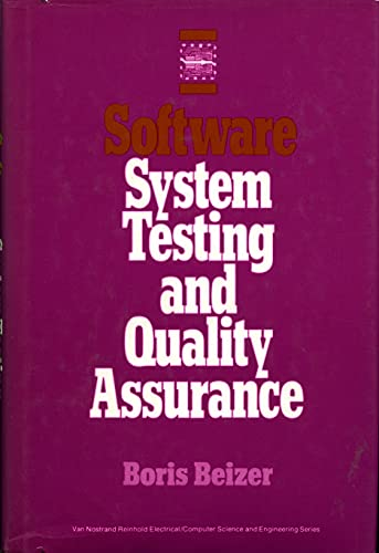 Software System Testing and Quality Assurance (Van Nostrand Reinhold Electrical/computer ...