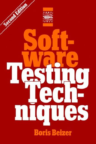 9781850328803: Software Testing Techniques