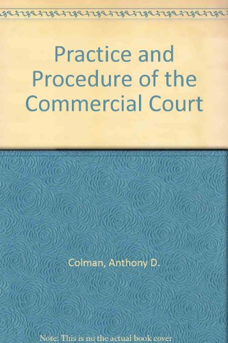 9781850440611: The Practice and Procedure of the Commercial Court